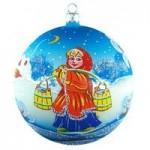 Стеклянные шары с художественной росписью (Ёлочка Россия)
