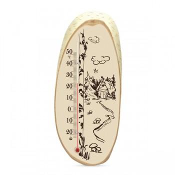Термометр комнатный деревянный Стеклоприбор Д-10 исп.3 Березка