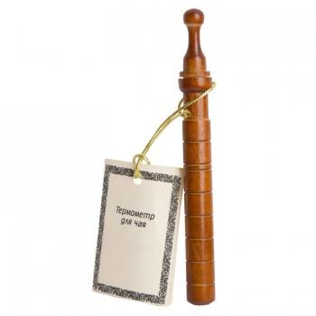 Термометр для чая Стеклоприбор ТБ-3-М1 исп.12 (деревянный футляр, диапазон от 0 до +100 гр.С)