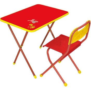 """Комплект детской мебели Ника КА1 """"Алина"""", цвет столешницы - красный (стол и стул)"""