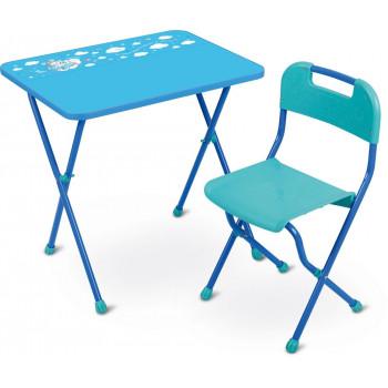 """Комплект детской мебели Ника КА2/Г """"Алина-2"""", голубой (стол и стул)"""