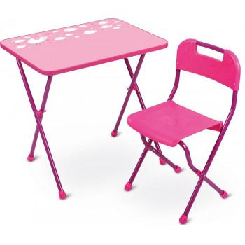 """Комплект детской мебели Ника КА2/Р """"Алина-2"""", розовый (стол и стул)"""