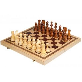 Шахматы деревянные Офисные точёные С-3 в комплекте с доской
