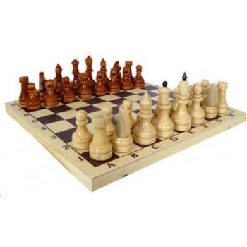 Шахматы деревянные Турнирные утяжелённые Е-2 в комплекте с доской