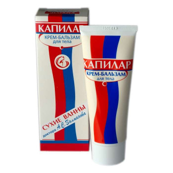 Капилар крем-бальзам для тела охлаждающий 75мл