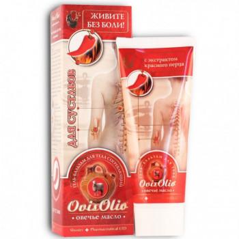Гель для тела и суставов Овечье масло OvisOlio, согревающий с экстрактом перца, 70 гр