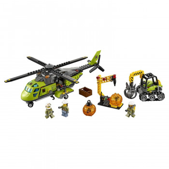 Конструктор BELA Грузовой вертолет исследователей вулканов № 60123