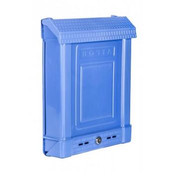 Ящик почтовый М6179 с замком, синий