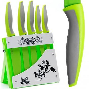 Набор кухонных ножей MAYER & BOCH 21633, 5 ножей на яркой подставке