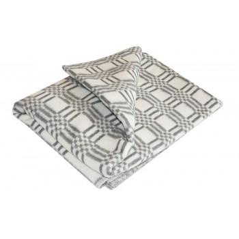 Одеяло байковое Ермолино 5772В-эконом-серый, 140х205