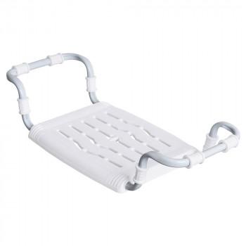 Сиденье в ванну СВ5 (белый) пластмассовое раздвижное с металлическим каркасом