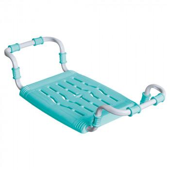 Сиденье в ванну СВ5 (бирюза) пластмассовое раздвижное с металлическим каркасом