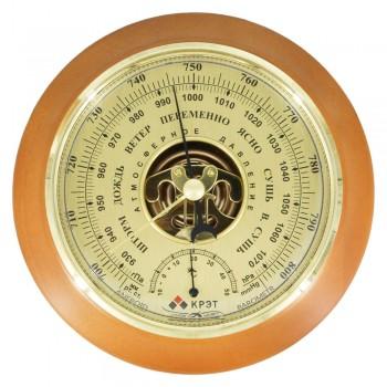 Барометр деревянный Утес БТК-СН-17 шлифованное золото с термометром (диам.175/130мм)