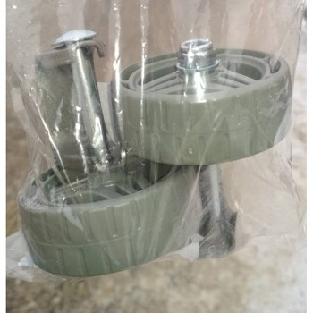 Кронштейн съемный с колесом УС40К для детских санок (в комплекте 2шт., для полозьев 40х20мм)