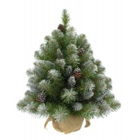 Искусственная елка ИМПЕРАТРИЦА 90 см с шишками заснеженная в мешочке Triumph Tree