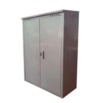 Шкаф под два газовых баллона по 50л Петромаш, серый