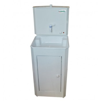 Умывальник дачный с подогревом воды Чистюля, белый, пластиковая мойка