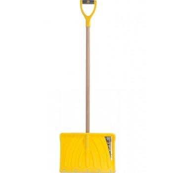 Лопата снеговая пластиковая Эксперт Норд  с деревян. черенком, 450х330 мм