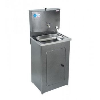Умывальник дачный Акватекс с нагревом воды (ЭВН), цвет серебро, нержавеющая мойка