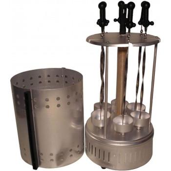 Электрошашлычница (шашлычница) Пикник ЭШВ-1,25/220-01-Гф-Т (гофротара, 6 оссновных+ 6 доп.шампуров, 1250Вт)