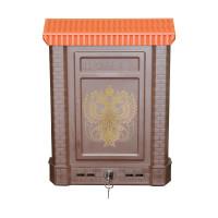 Ящик почтовый Премиум внешний с замком и 2-мя ключами (пластик, 390х280х75мм) Коричневый