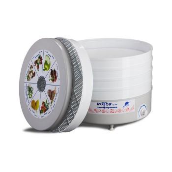Сушилка для овощей и фруктов Ротор СШ-002-06, 5 белых поддонов