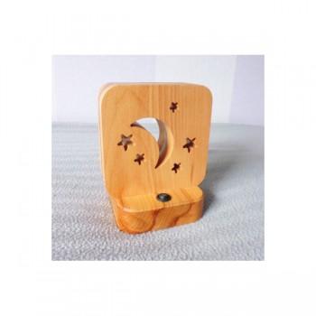 Светодиодный ночник Buken «Месяц» из дерева