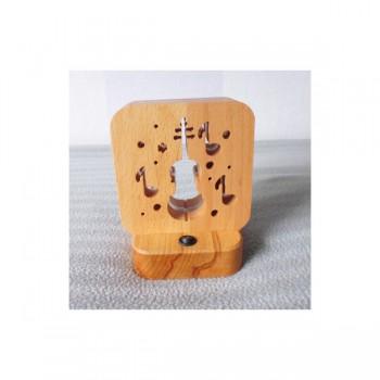 Светодиодный ночник Buken «Музыка» из дерева