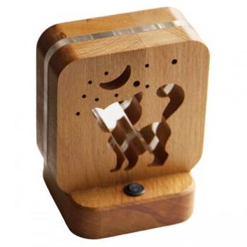 Светодиодный ночник из дерева Buken «Кошка»