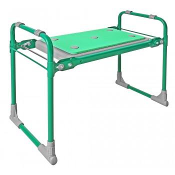 Скамейка-перевертыш складная Ника СКМ2/З (модель 2) мягкая, зеленый каркас