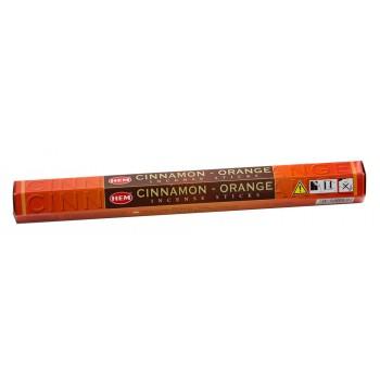 Благовония (ароматические палочки) Корица Апельсин (Cinnamon Orange), HEM, 20 шт. в упаковке (шестигранник)