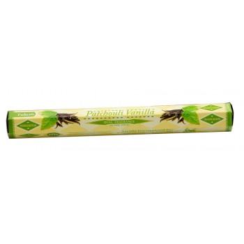Благовония (ароматические палочки) Пачули Ваниль (Patchouli Vanilla), SARATHI, 20 шт. в упаковке (шестигранник)