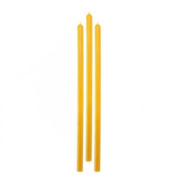 Свеча магическая восковая, четырёхчасовая, цвет жёлтый, набор 3 шт