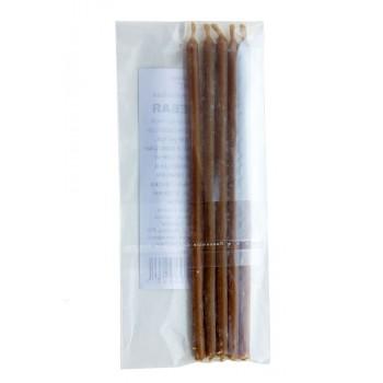 Свеча восковая магическая часовая, 5х150 мм, 5 шт, цвет коричневый