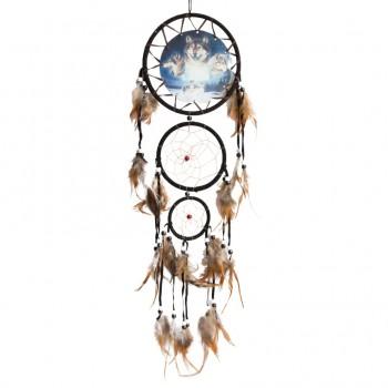 "Ловец снов ""Волки"" диаметр 16 см, длина 60 см"