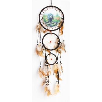 """Ловец снов """"Медведь"""" диаметр 16 см, длина 60 см"""