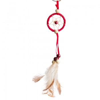 """Брелок """"Ловец снов"""" красный, диаметр 3,5 см"""