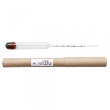 Ареометр для спирта профессиональный (лабораторный) АСП-3 (0-40%) ГОСТ 18481-81 Стеклоприбор