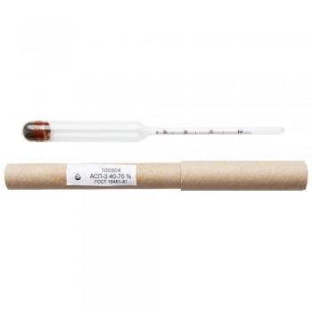 Ареометр для спирта профессиональный АСП-3 (40-70%) ГОСТ 18481-81 Стеклоприбор