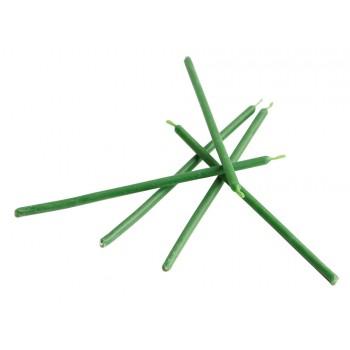 Свеча восковая магическая часовая, 5х150 мм, 5 шт, цвет зеленый