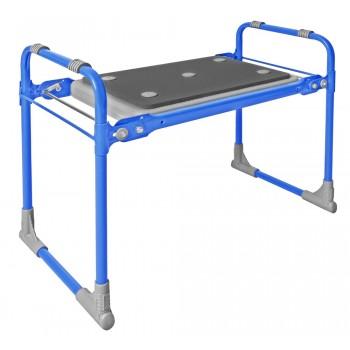 Скамейка-перевертыш складная Ника СКМ2/Г (модель 2) мягкая, голубой каркас