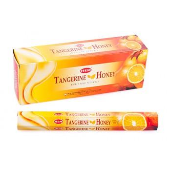 Благовония (ароматические палочки) Hem Мандарин Мед (Tangerine Honey), 20 палочек