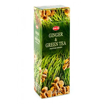 Благовония (ароматические палочки) Hem Имбирь и Зелёный Чай (Ginger & Green Tea), 20 палочек