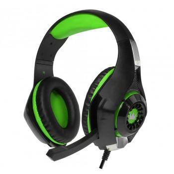Гарнитура игровая CROWN CMGH-102T black&green