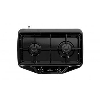 Газовая плита GRETA 1103 G(2)N 500 MN 00(D) черная, 2 конфорки