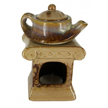 "Аромалампа ""Чайник на колонне"" , коричневая"