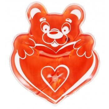Грелка Мишка с сердцем солевая