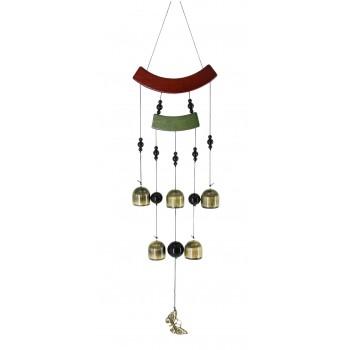 "Колокольчики ветра ""Бабочка"", бамбук, металл, 60 см"