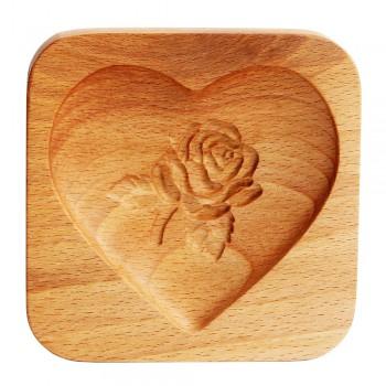 Форма для пряника (пряничная доска) Buken «Сердце с розой»