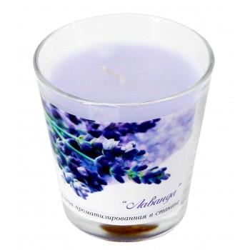 """Свеча ароматизированная в стакане """"Лаванда"""""""